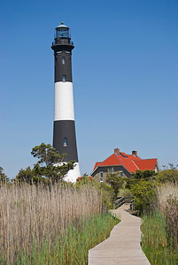 """Fire Island Lighthouse"" The Fire Island Lighthouse along the coast in Long Island, New York."
