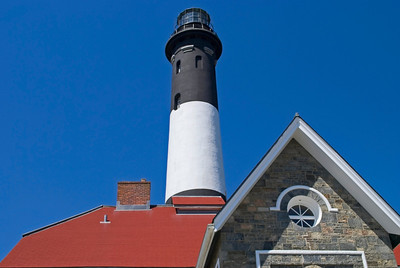 The historic Fire Island Lighthouse in Long Island, New York.