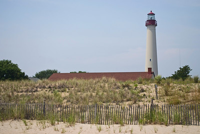 The historic Cape May Lighthouse along the Jersey Shore.