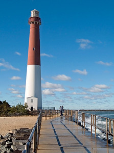 """Lighthouse and Surf"" The Barnegat Lighthouse on Long Beach Island along the Jersey Shore."