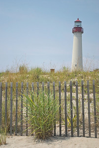 """Dunes Cape May Lighthouse""  The historic Cape May Lighthouse along the Jersey Shore."