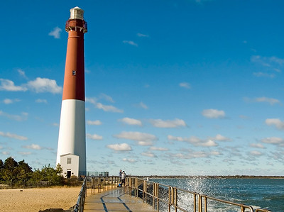 """Coastline Lighthouse"" The Barnegat Lighthouse on Long Beach Island along the Jersey Shore."