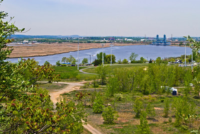 """Hackensack River View from Snake Hill"" A scenic view of Hudson County Park at Laurel Hill and the Hackensack River and the wetlands surrounding it."