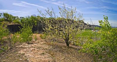"""""""Snake Hill View Panorama"""" A panoramic Spring Snake Hill view in Secaucus."""