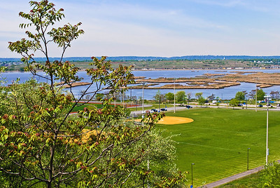 """Laurel Hill Park, Scenic View""  A scenic view of Hudson County Park at Laurel Hill and the Hackensack River and the wetlands surrounding it."