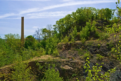 """""""Snake Hill Smokestack View 2""""  The last standing easily visible smokestack at Snake Hill."""