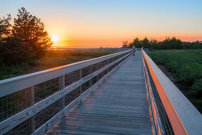 Footbridge at Sunset