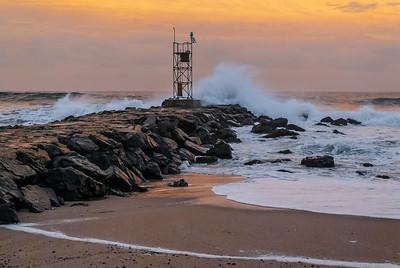 Crashing Waves at Dusk