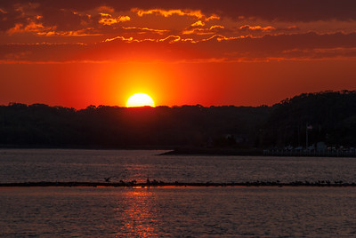 Belmar Sunset Over the Bay
