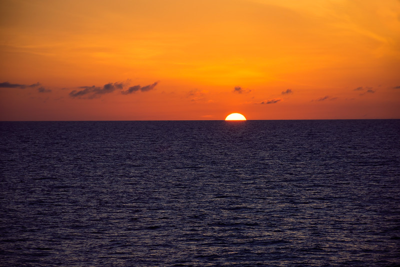 Sun Sinks Into the Sea