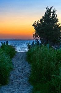 Bay Trail at Sunset