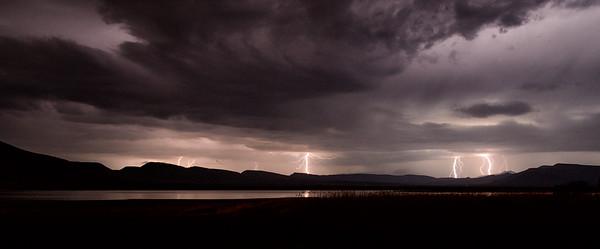 Lightning over Nqweba Dam, Graaff Reinet