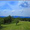 Apple Greens Golf Course Highland New York. Mohonk Mountain House is seen in the distance.