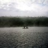 This shot taken on Indian Lake in the Adirondacks around 1995? I scanned the film and enhanced it.