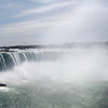 Wide angle shot of Niagara Falls on the Canadian side. It is a site to behold!