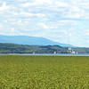 The Catskill mountains viewed from the Hudson River in Esopus New York