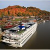 The Independence is docked in Kingston NY, on the lower Rondout Creek which flows into the Hudson River.