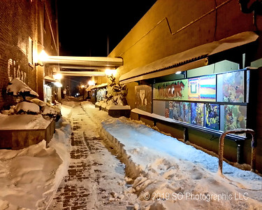 Art Alley in Winter
