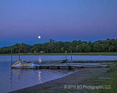 Buck Moon Over Fidler Pond