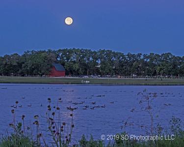 Blue Moon Over Fidler's Barn
