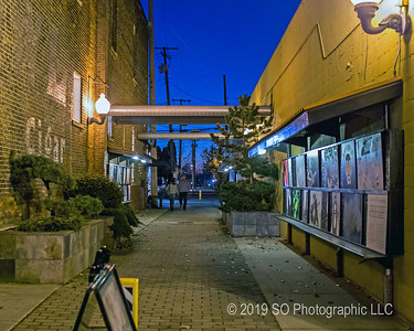 Art Alley on a Friday Night