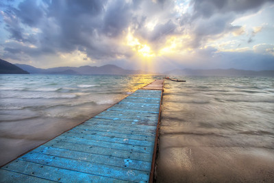 Jetty Towards the Sun