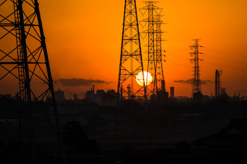 Power of the Sun<br /> Sunset somewhere in Chiba. Taken while riding a bus
