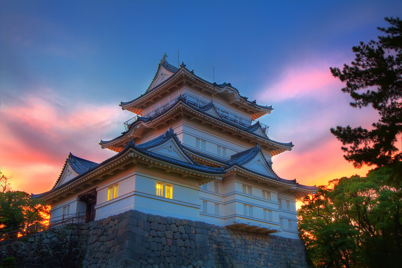 Sunset at Odawara Castle