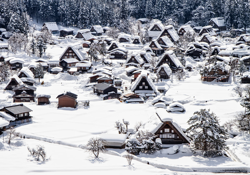 Snow Village by Day