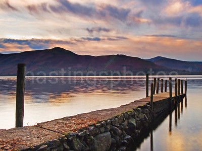 Dusk over Derwentwater