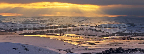 Winter glow, Peak District, Derbyshire