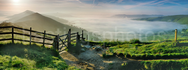Hope Valley morning mist, Peak District, Derbyshire
