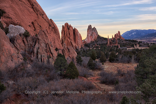 After Sunset at Garden of the Gods