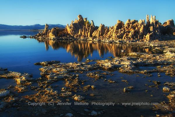 Mono Lake Sunset Tufa Reflections