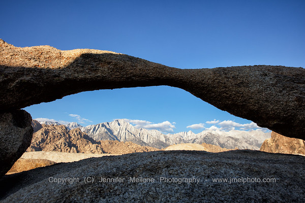 Peeking at Mount Whitney