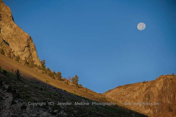 Morning Moonset Near Silver Lake