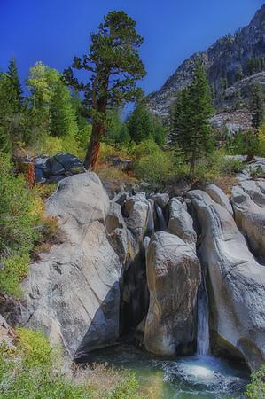 Smooth Rock Waterfall