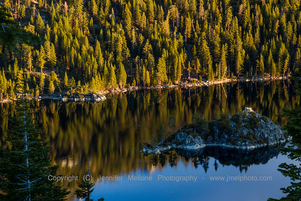 Lake Tahoe - Fannette Island after Sunrise