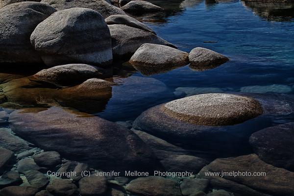 Lake Tahoe Rocks - Peaking and Underwater
