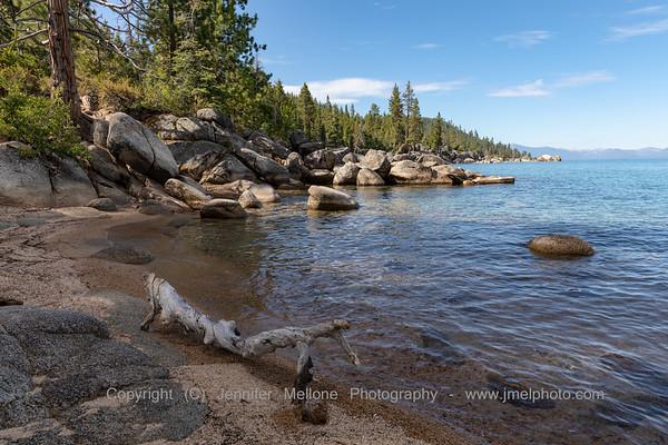 Tahoe Beach with Log