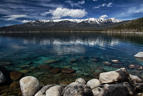 Lake Tahoe Rocks and Mountains