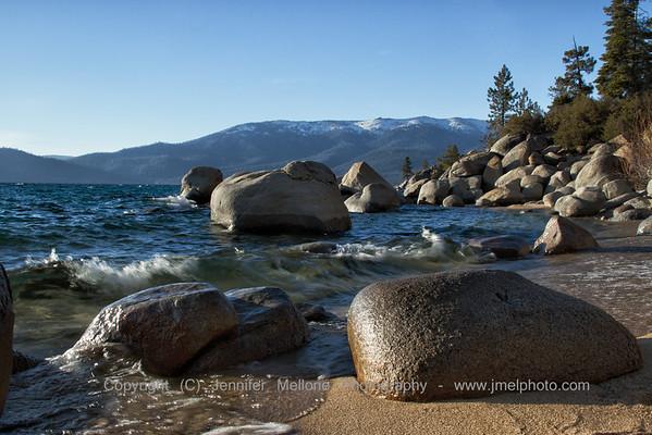 Lake Tahoe Late Day Sand and Rocks