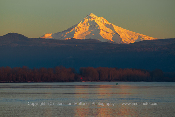 Mount Hood Columbia River Sunset