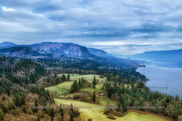 Columbia Gorge Looking East - Winter
