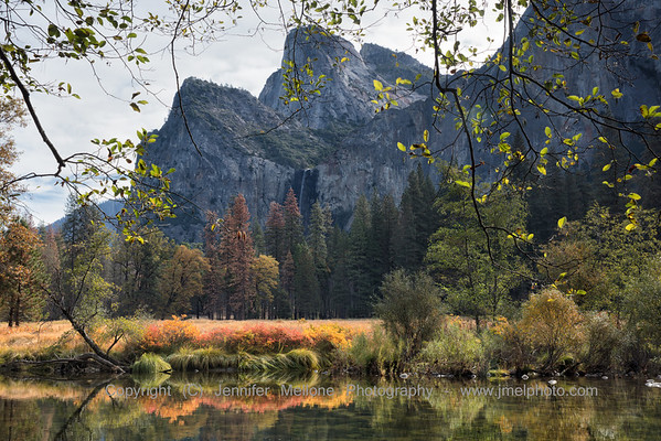 Bridalveil Fall and Cathedral Rocks in Autumn