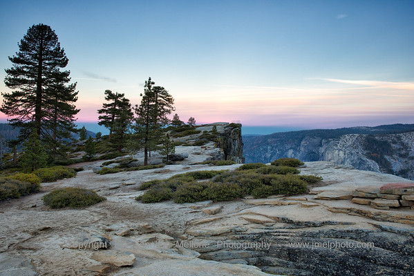 Taft Point and Fissure Autumn Sunrise