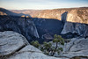 Sun Coming up over Yosemite Valley, Illuminating El Capitan