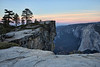 Peeking over the Edge at Taft Point during Sunrise