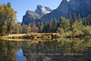 Fall Colors at Merced River and Cathedral Rocks