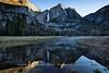 Upper Yosemite Fall Post-Sunrise Sunlight Reflection